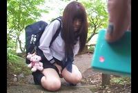 【美少女】セーラー服限定サポ!飛びっこ羞恥散歩からの中出し!
